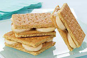 Frozen PB Banana Sandwiches