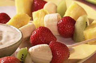 Fruit Kabobs with Lemony Dip