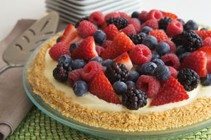 Fruity JELL-O No Bake Cheesecake Image 1