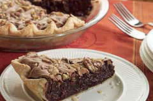 Fudgy Walnut Pie