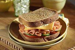 Garden Veggie and Ham Sandwich Image 1