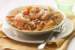 Garlic-Shrimp Linguine