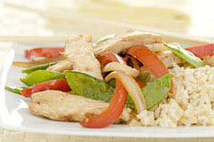 Ginger Chicken & Snow Peas
