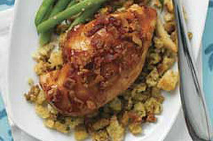 Honey-Glazed Chicken with Stuffing Image 1