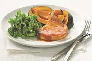 Glazed Pork Chops with Squash Image 1