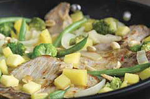 Glazed Pork Chops with Vegetable Saute Image 1