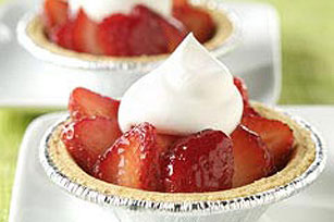 Individual Glazed Strawberry Tarts