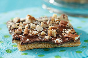 Cuadritos Graham con chocolate y nueces