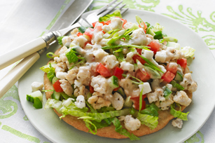 Greek Pita Tostadas