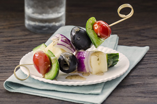 Greek Salad Snack Skewers