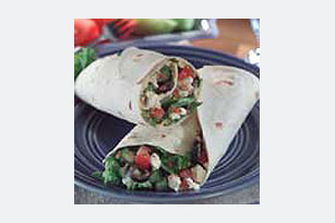 Greek Salad Wrap Image 1
