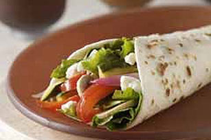 Greek Vegetable Wraps Image 1