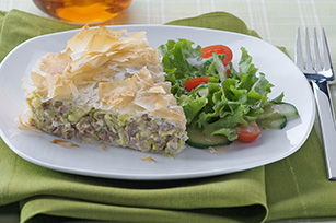 Greek Zucchini, Meat & Feta Pie