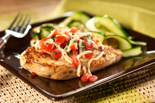 Grilled Bruschetta Chicken Recipe - Kraft Recipes