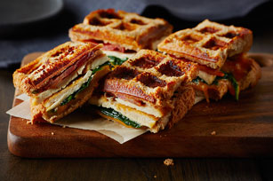 Grilled Caesar Chicken Wafflewich