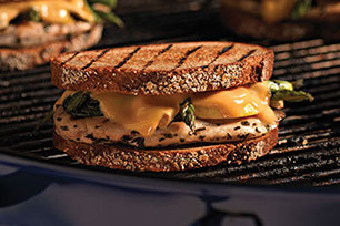 Grilled Chicken Patty Melt