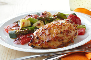 Grilled Chicken with Savoury Summer Vegetables