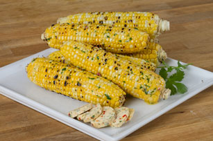 Grilled Corn with Parmesan-Cilantro Butter