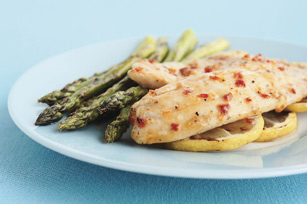 Grilled Lemon Fish with Asparagus