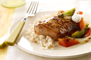 Grilled Orange Chipotle Pork & Brown Rice
