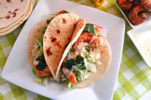 Grilled Shrimp Tacos with KRAFT Classic Ranch Dressing