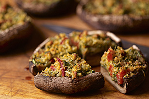 Grilled Spinach-Stuffed Portobello Mushrooms Image 1