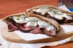 Grilled Steak with Tzatziki Salad Image 1