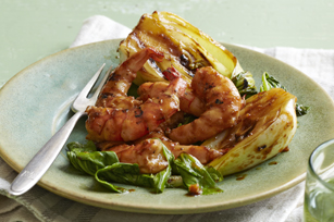 Grilled Teriyaki Shrimp & Bok Choy