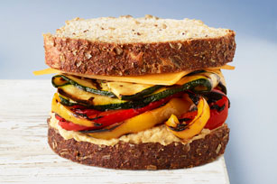 Grilled Vegetable & Hummus Sandwich