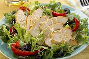 Grilled Balsamic Chicken over Greens Image 1