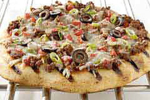 Grilled Beef 'N Vegetable-Topped Pizza Image 1