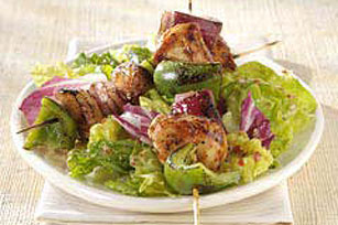 Grilled Cajun Kabobs with Fresh Greens Image 1