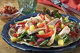 Grilled Chicken Salad on Crispy Tortillas Image 1