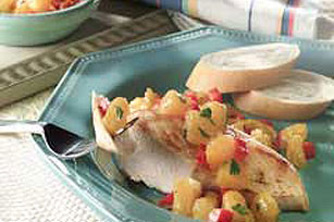 Grilled Chicken with Sassy Citrus Salsa Image 1