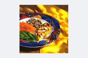 Grilled Honey Mustard Chicken with Toasted Almonds Image 1