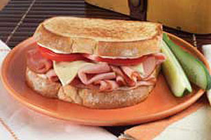 Grilled Pepperjack, Ham & Tomato Sandwich
