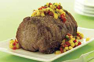 Grilled Pork Loin with Pineapple Salsa