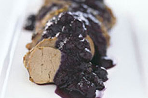 Grilled Pork Tenderloin with Port Blueberry Compote Image 1