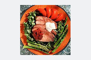 Grilled Steak with Two Sauces Image 1