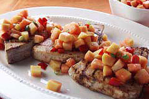 Grilled Swordfish with Papaya Salsa Image 1
