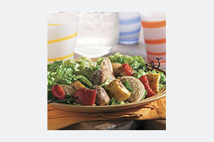 Grilled Vegetable Kabob Salad Image 1