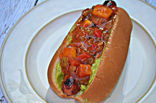 Guacamole and Salsa Hot Dog