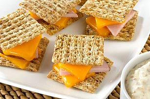 Ham & Cheese on Rye with Dipping Sauce