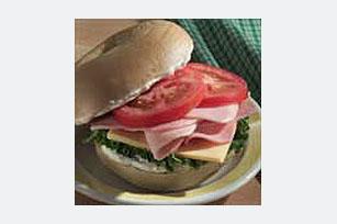 Ham Garden Bagel Image 1