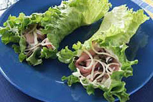 Ham and Cheese Lettuce Wraps Image 1