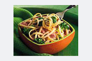 Ham and Linguine Primavera