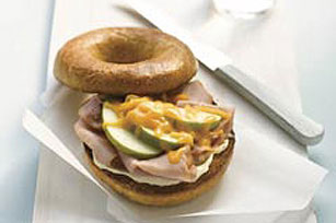 Ham & Apple Bagel Sandwich Image 1