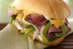 Hearty Cheesesteak Sandwich Image 1