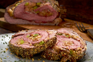 Hearty Tuscan Herb Parmesan-Stuffed Flank Steak