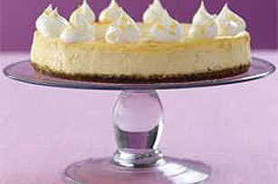 Primaveral cheesecake de limón